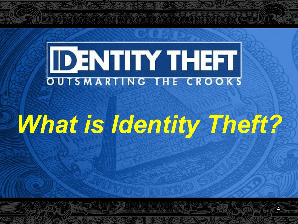 5 A Legal Definition Under the Fair and Accurate Credit Transactions Act of 2003, Identity Theft means: A fraud committed or attempted using the identifying information of another person without authority. 16 CFR § 603.2