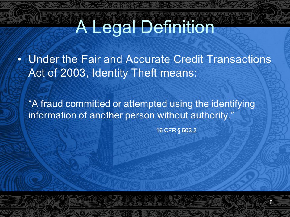 36 Contact the Credit Bureaus Contact the credit bureaus immediately when you find out you are a victim of Identity Theft to place a fraud alert in your credit report You also may want to contact the credit bureaus to place a fraud alert if you feel like you may become a victim of Identity Theft (e.g., your wallet containing identifying information has been stolen) The fraud alert on your credit file signals to would-be creditors to do extra verification before they grant credit in your name