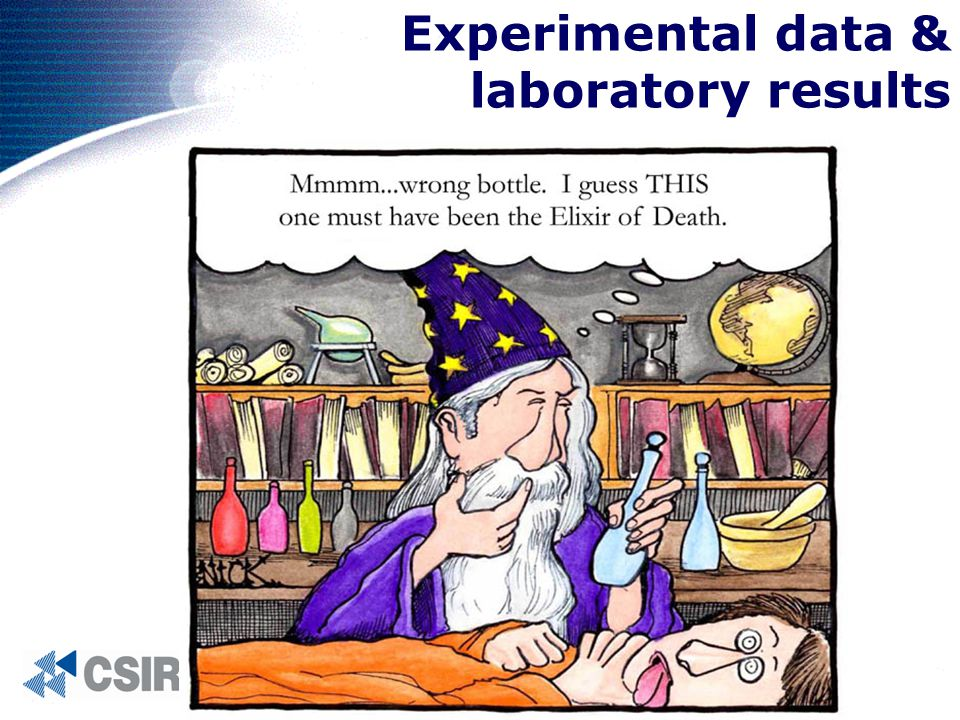 Experimental data & laboratory results