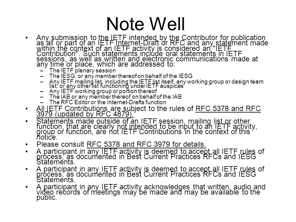 Agenda 3m - Intro, Adminastriva, Document Status 11m – (update) IS-IS Extensions Supporting IEEE 802.1aq Shortest Path Bridging Peter Ashwood-Smith http://www.ietf.org/id/draft-ietf-isis-ieee-aq-05.txt 13m – (update) TRILL Use of IS-IS Donald Eastlake http://www.ietf.org/id/draft-ietf-isis-trill-05.txt