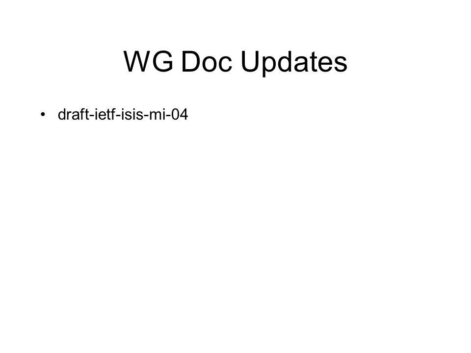 WG Doc Updates draft-ietf-isis-mi-04