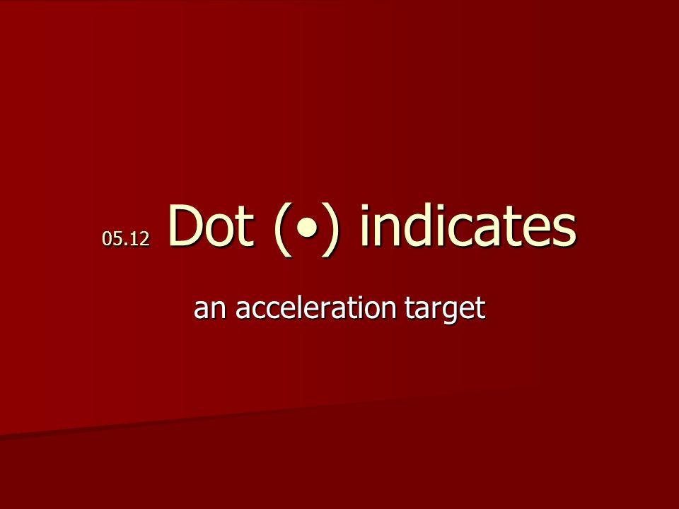 05.12 Dot () indicates an acceleration target
