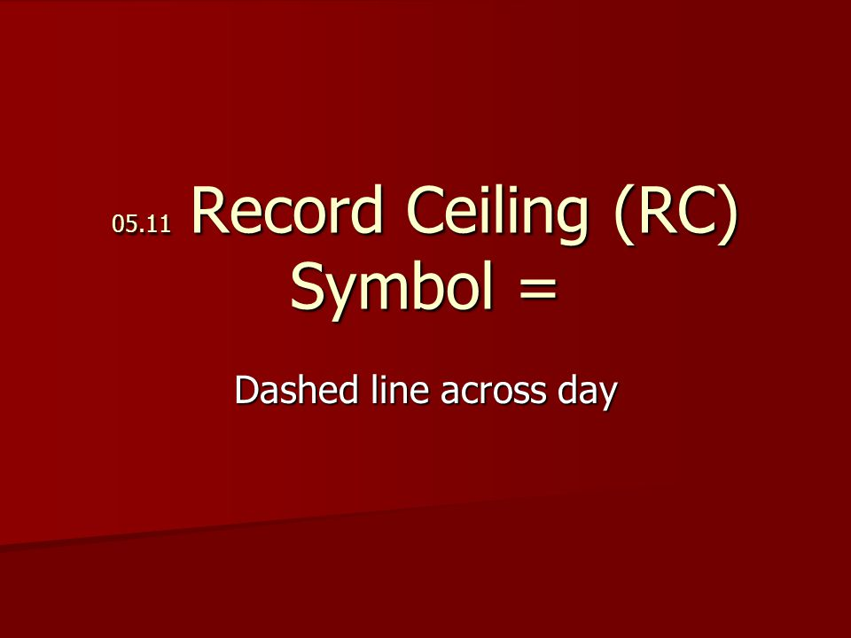 05.11 Record Ceiling (RC) Symbol = Dashed line across day