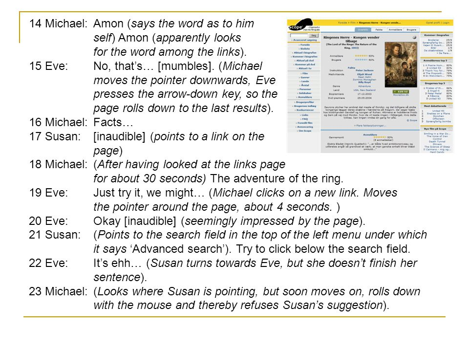 14 Michael:Amon (says the word as to him self) Amon (apparently looks for the word among the links).