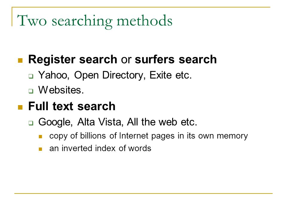 Reading a potential text Full text search returns pages in which all of the words are found ↓ Reading strategy: Think of words that are found on a page and not on to many other pages To imagine, or read , a potential text