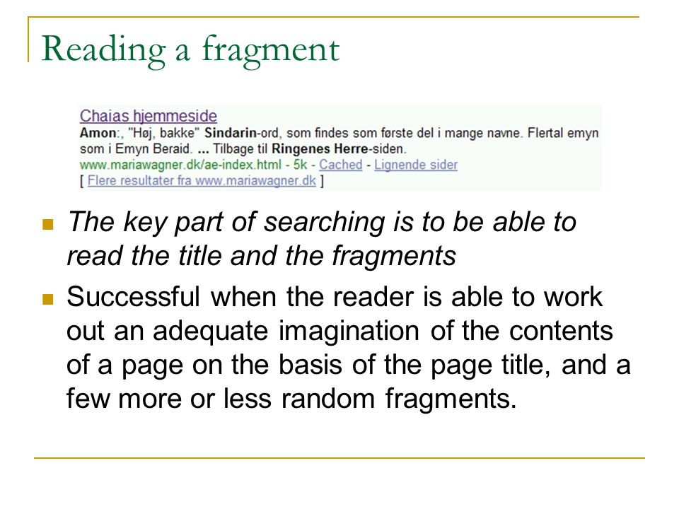 Analysis I Thematic search or imagination of text.