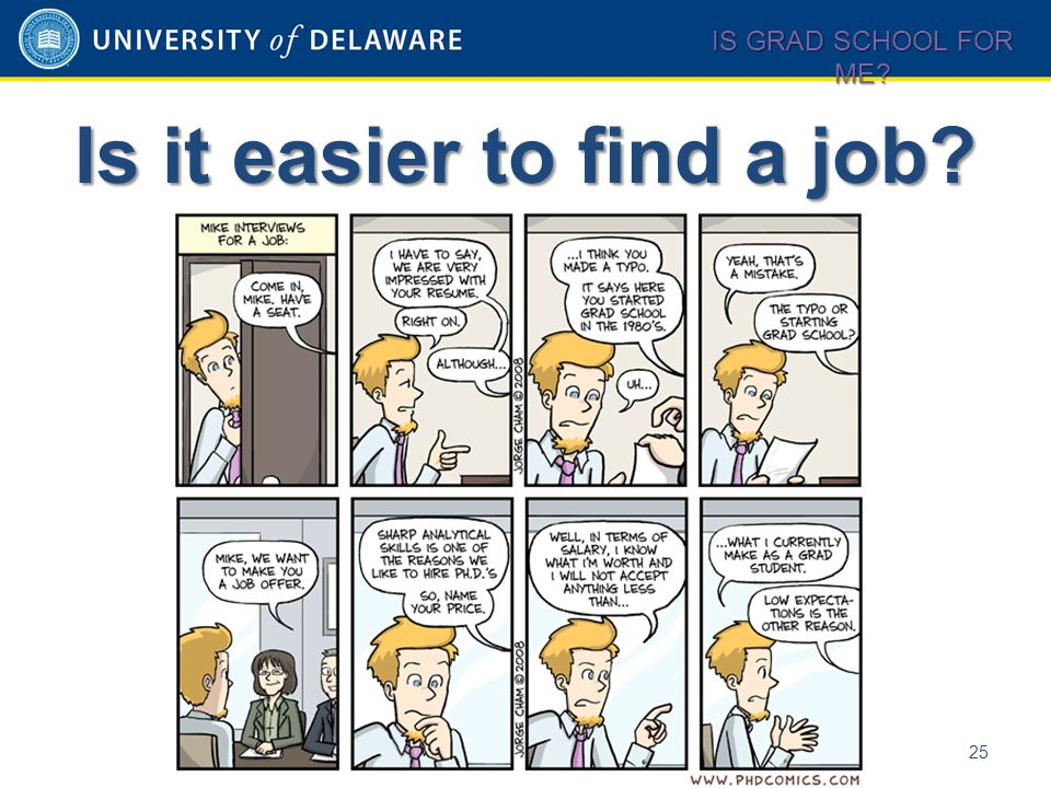 Is it easier to find a job? 25 IS GRAD SCHOOL FOR ME?
