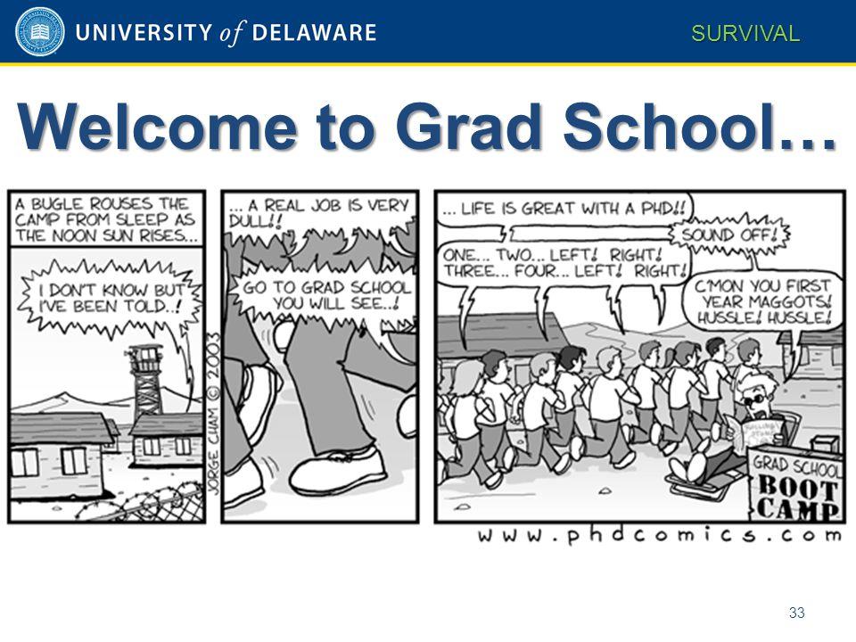 Welcome to Grad School… 33 SURVIVAL