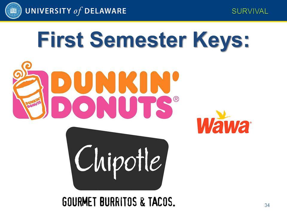 34 SURVIVAL First Semester Keys: