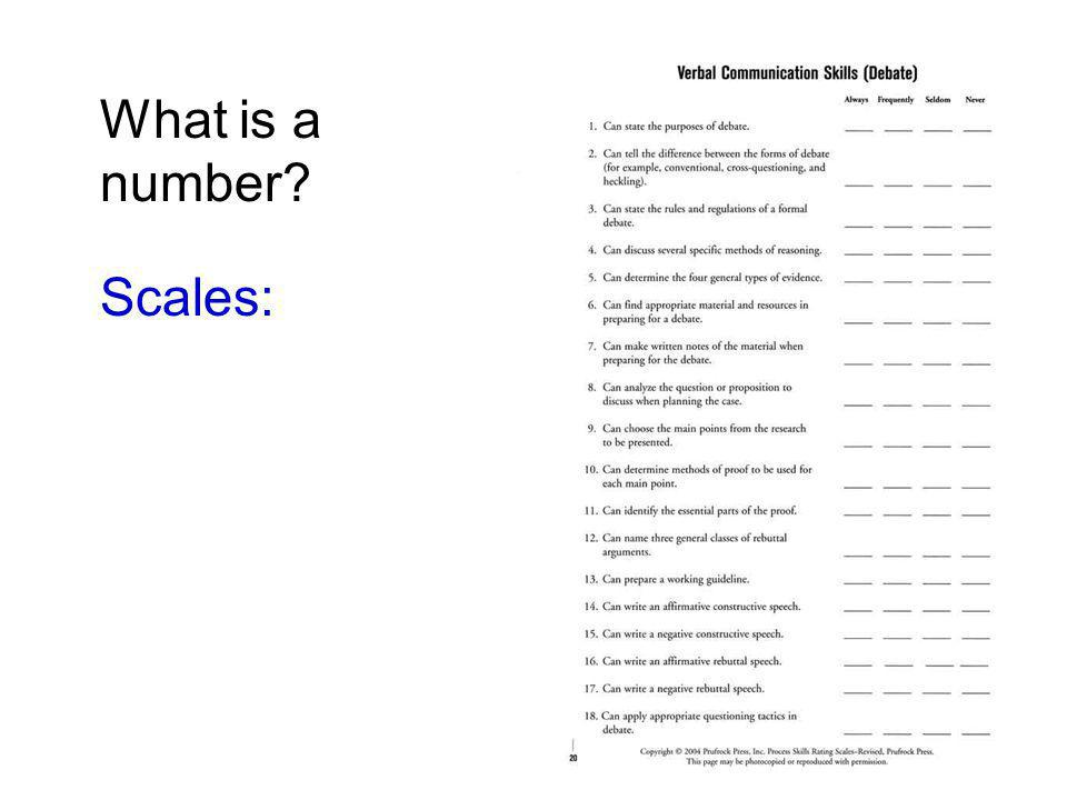 What is a number? Scales: