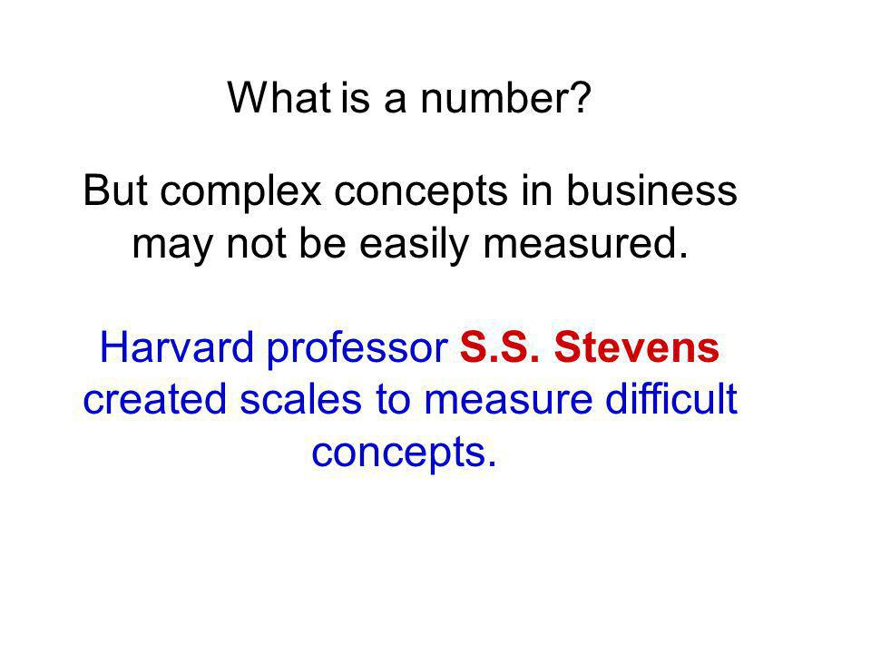 What is a number. But complex concepts in business may not be easily measured.
