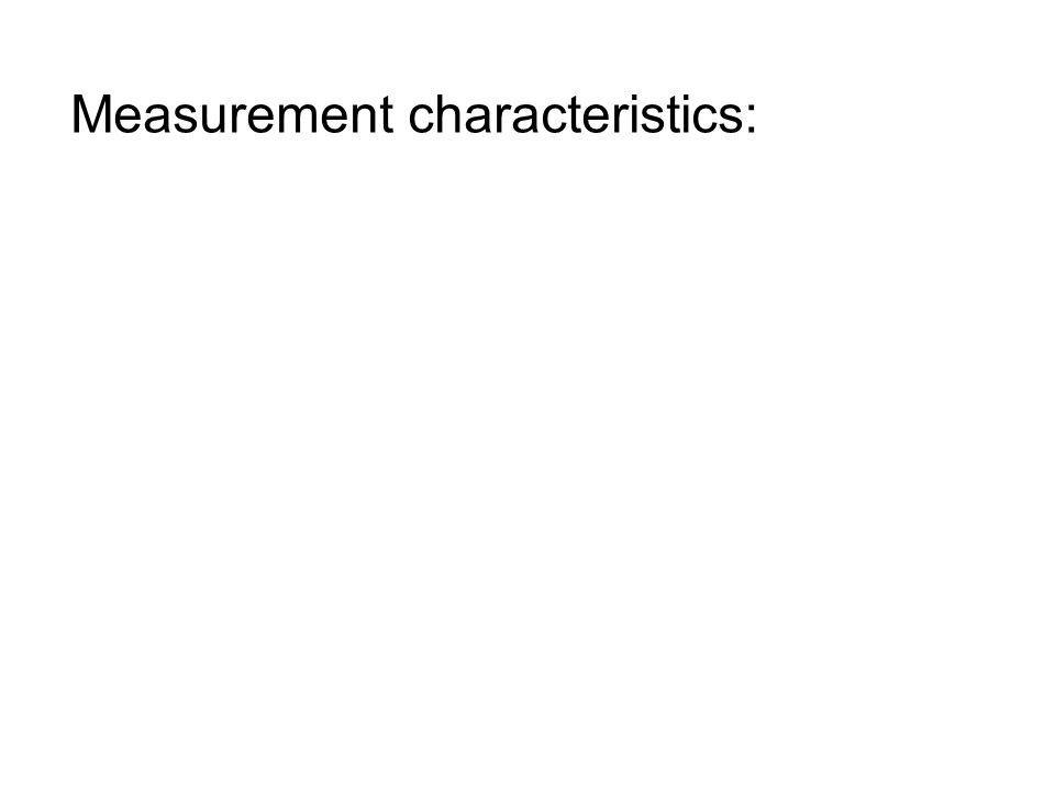 Measurement characteristics: