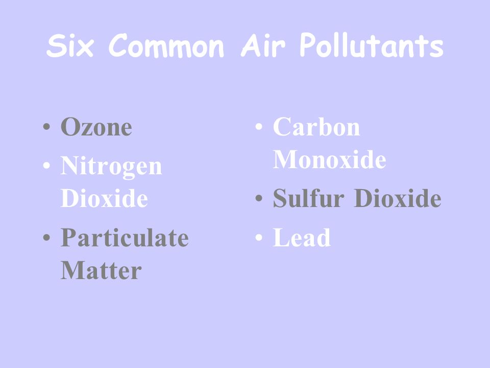 Units of measure for the criteria pollutants are: Parts per million (ppm) by volume Milligrams per cubic meter of air (mg/m 3 ) Micrograms per cubic meter of air (µg/m 3 ).