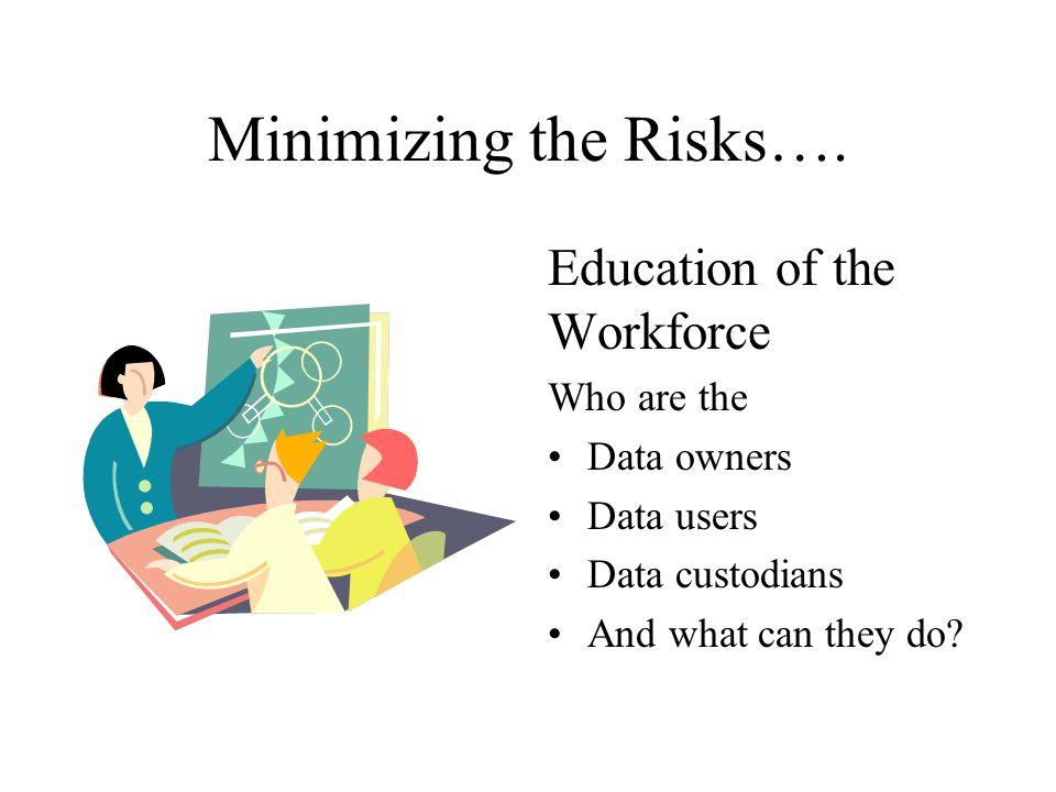 Minimizing the Risks….