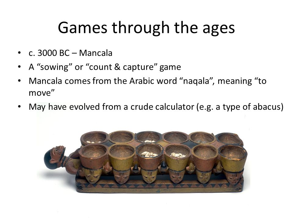 Games through the ages c.
