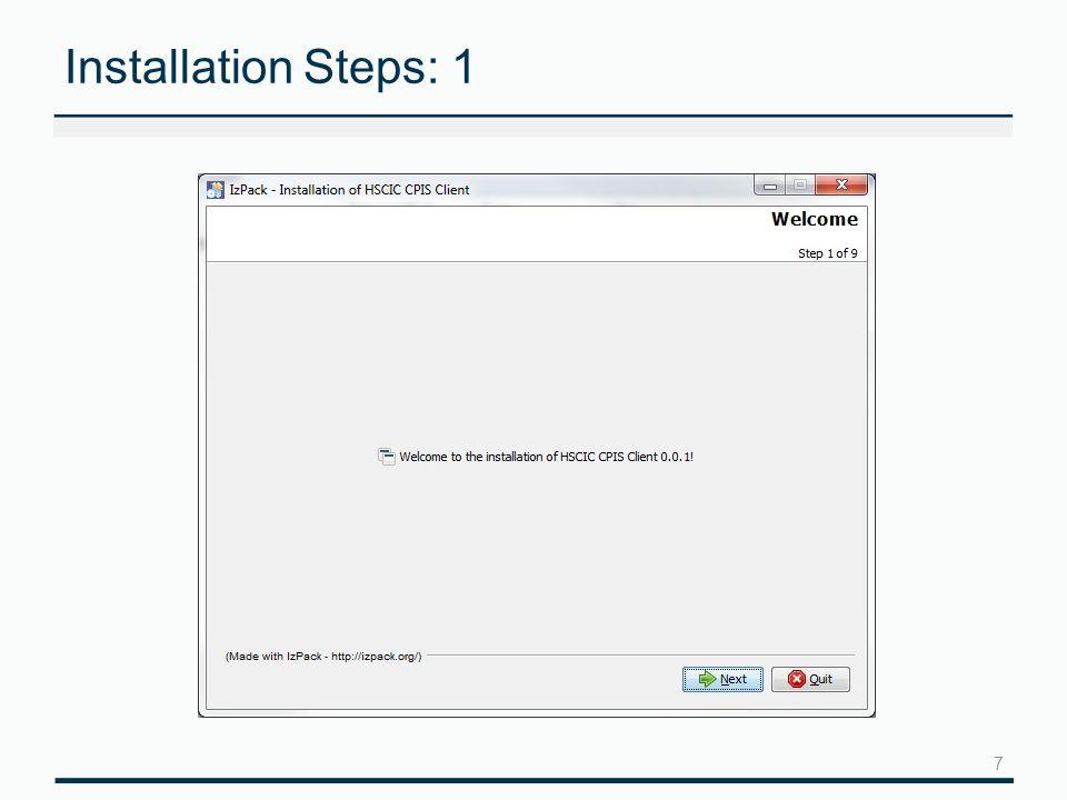 7 Installation Steps: 1