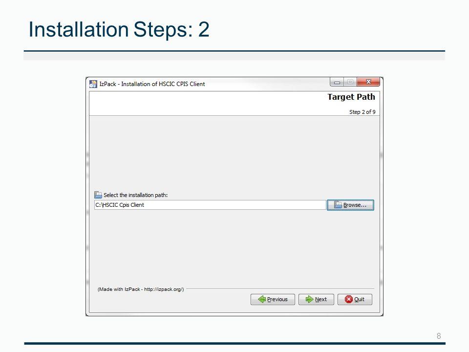 9 Installation Steps: 3