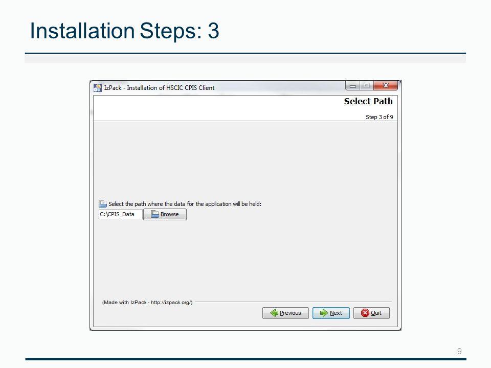 10 Installation Steps: 4