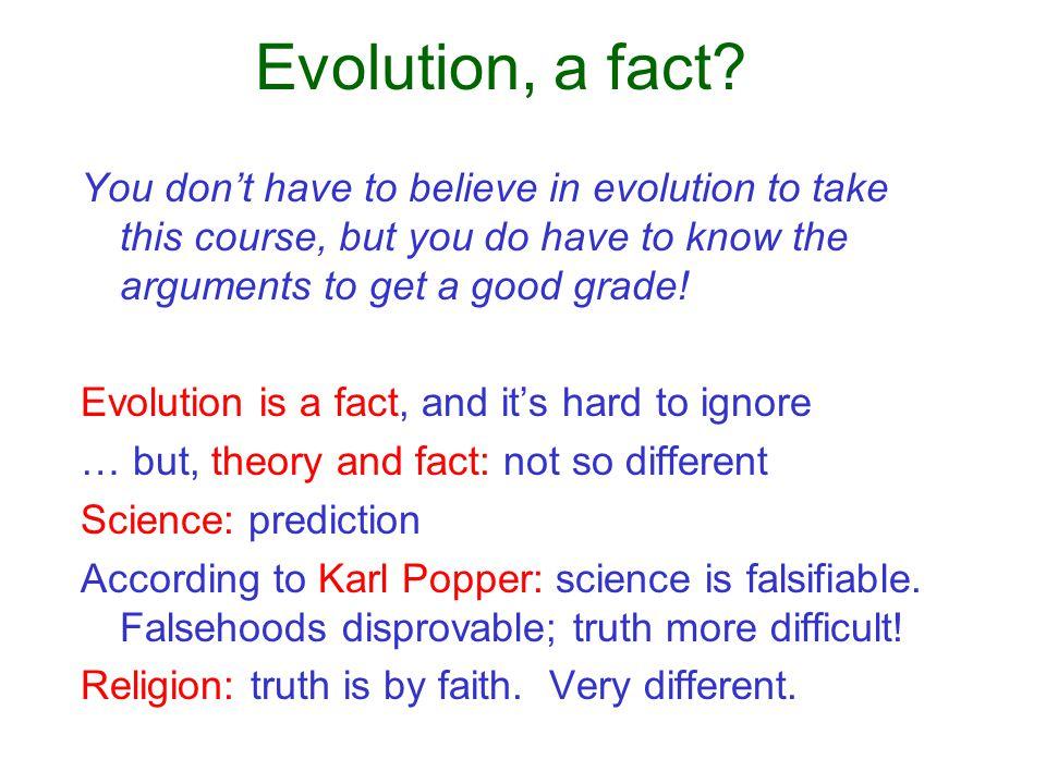 Evolution, a fact.