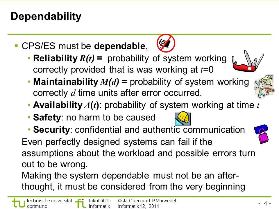 - 25 - technische universität dortmund fakultät für informatik  JJ Chen and P.Marwedel, Informatik 12, 2014 Summary  Common characteristics  Challenges (resulting from common characteristics)  Design Flows