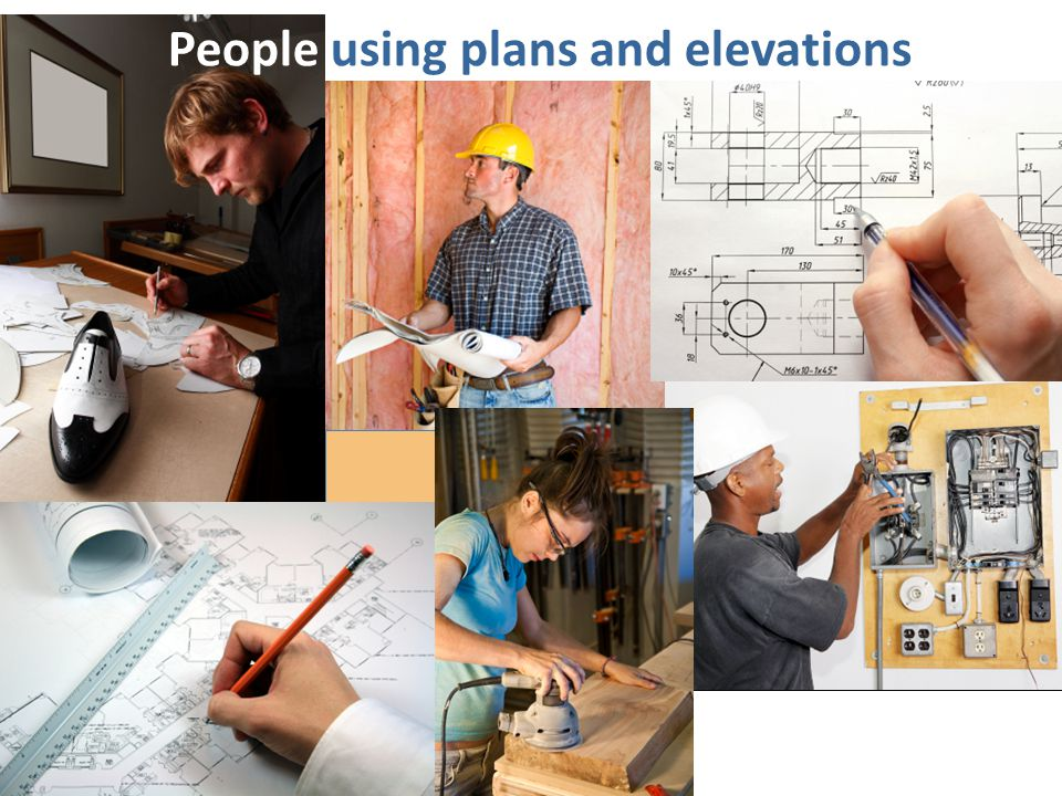 People using plans and elevations