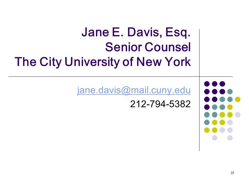 35 Jane E. Davis, Esq.