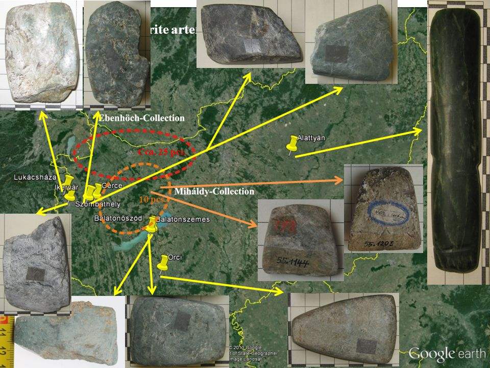 Most probable sources (preliminary results) Jordanów Oberhalbstein Mur-river?
