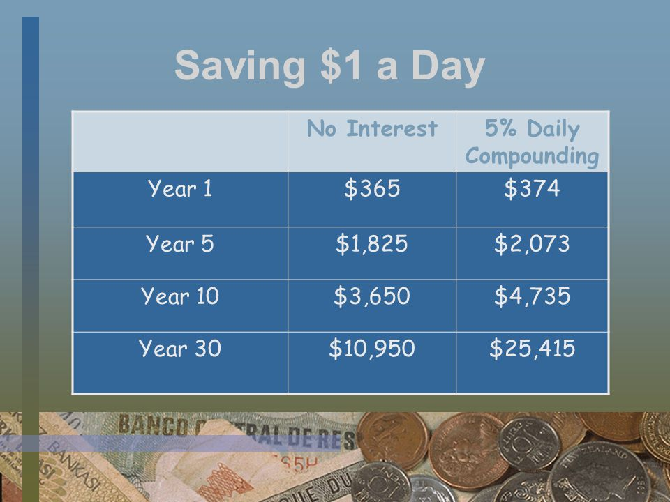 Tips for Savers Pay yourself first Open a savings account far away from home and work Save change at end of day Bank your surprises