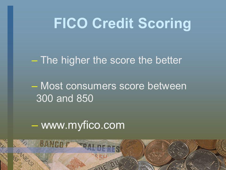 Credit Agencies' Credit Score ExperianFair Issac Trans UnionEmpirica EquifaxBeacon