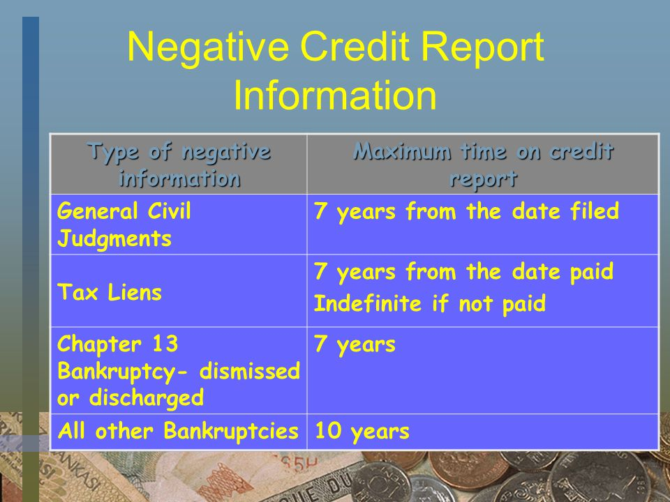 Bankruptcies Chapter 13 - the debtor keeps all of his/her property and makes regular payments on the debts after filing for bankruptcy Chapter 7 - the debtor gives up all nonexempt property and keeps exempt property (property that state law determines is needed for support of the debtor and his/her dependents)