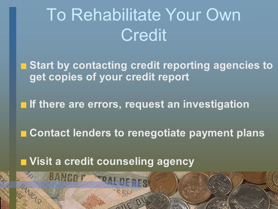 What are ways to Build a Credit History.