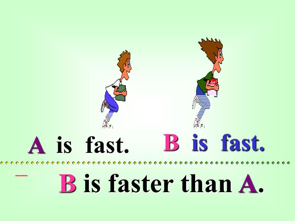 B is fast.