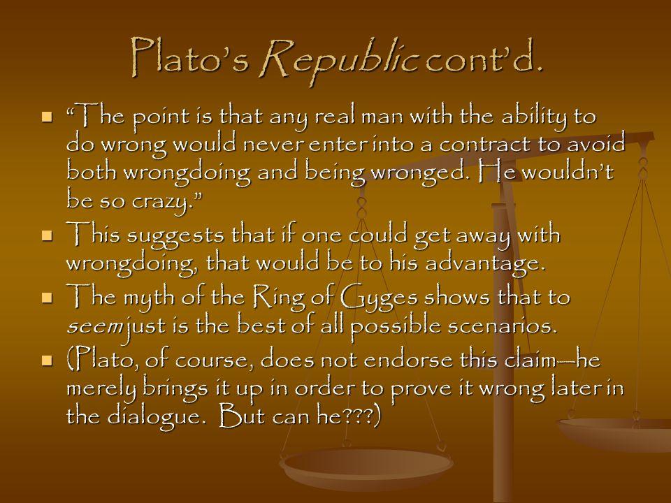 Plato's Republic cont'd.