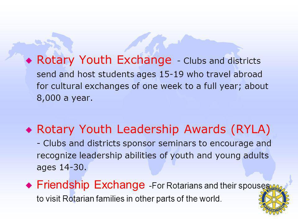The Rotary Community Corps u A group of non-Rotarians-Desire to help their own community by conducting service projects- assisted by Rotary u MEMBERS-