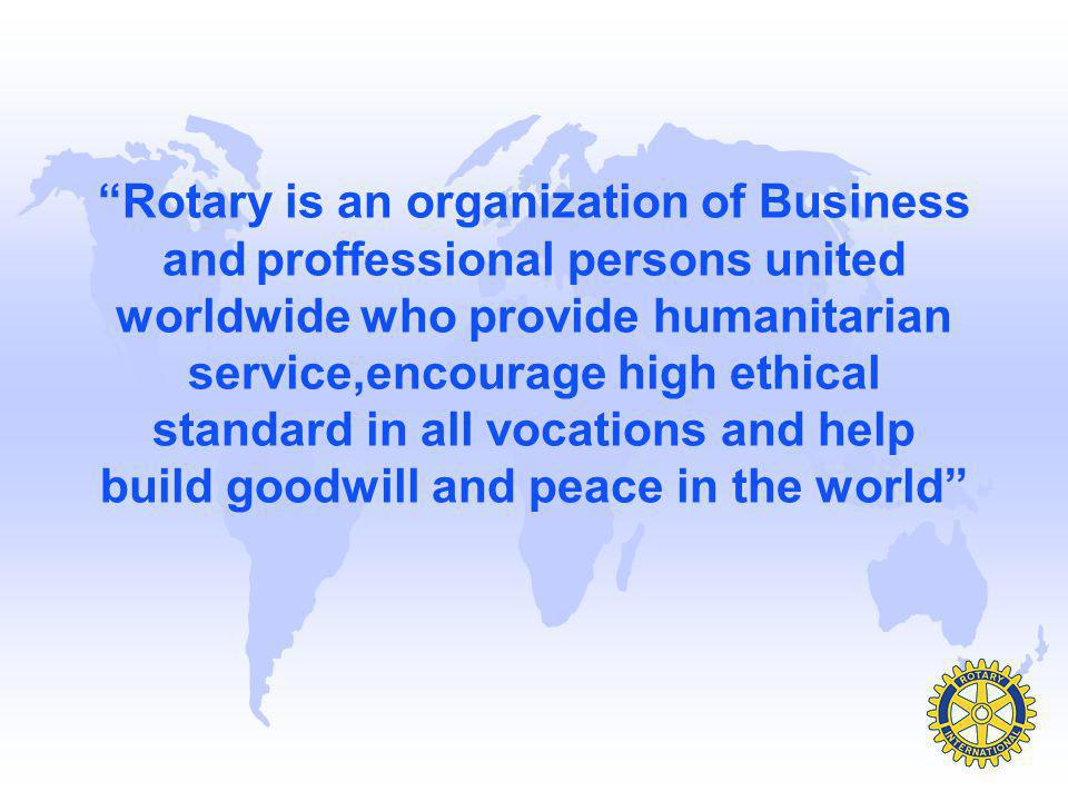 Club Service –Those things that a Rotarian does to help make successful the running of the local club.