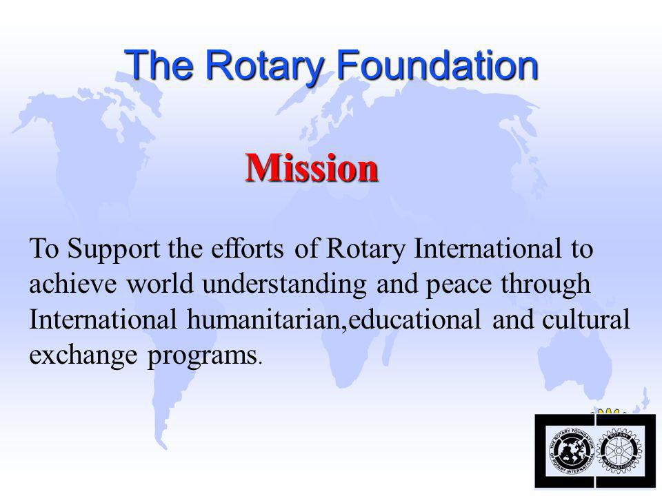 """The Rotary Foundation """"World Peace through Understanding"""""""