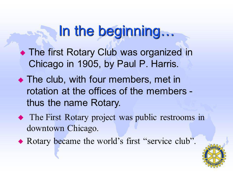 Rotary is an International Organization u There are 531 Districts in 166 countries throughout the world. u Our club, The Rotary Club of Hyderabad Decc