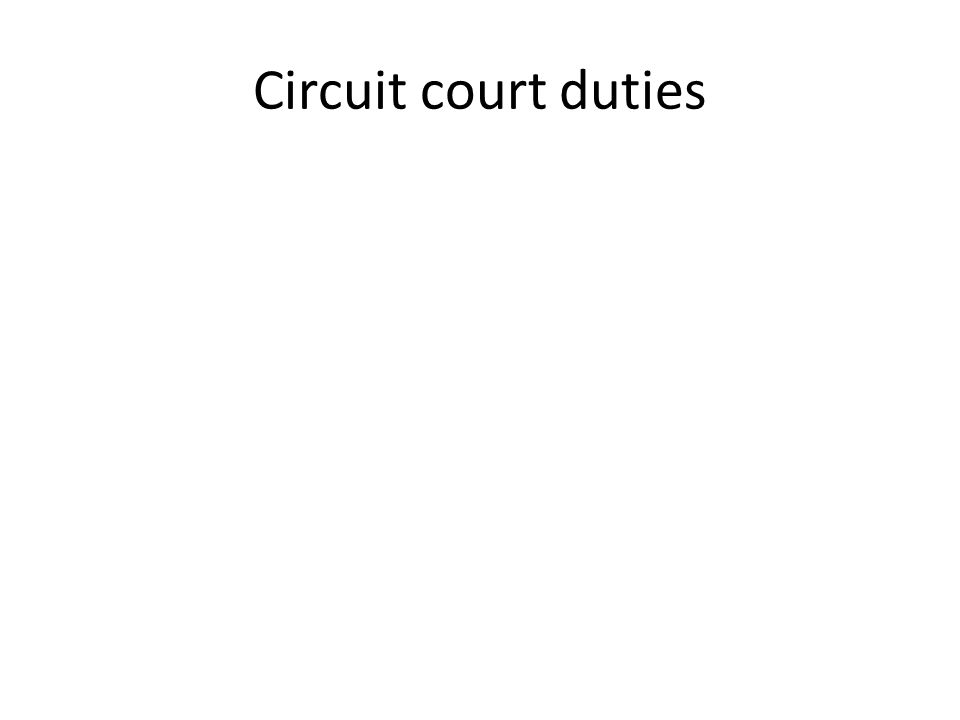 Circuit court duties