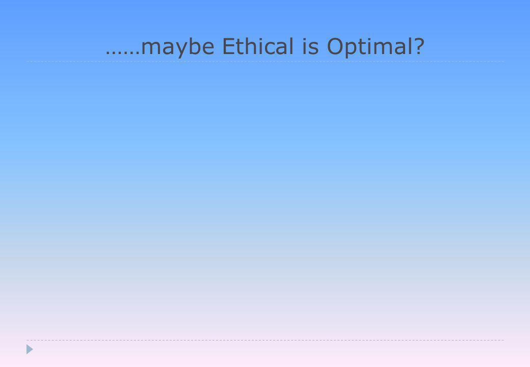 ……maybe Ethical is Optimal