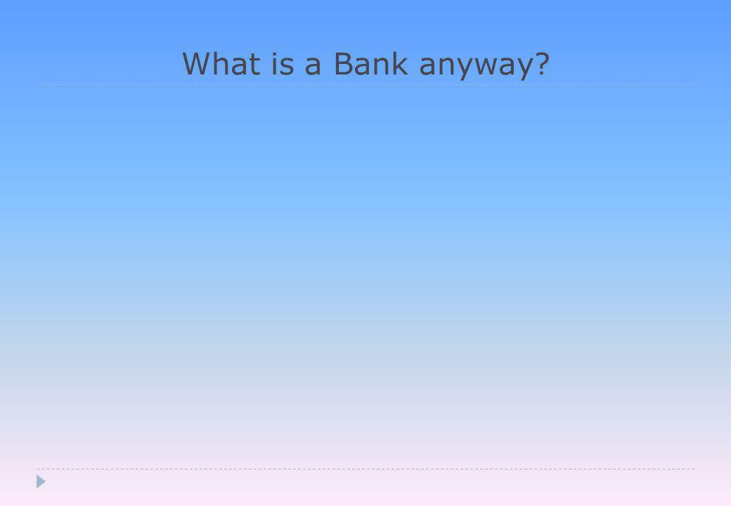 ….but manage peer to peer credit creation…