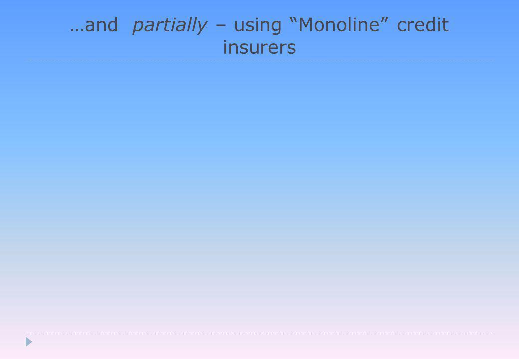 …and partially – using Monoline credit insurers