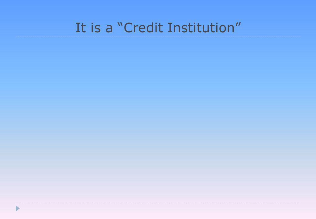 It creates Interest-bearing Credit (or Debt )