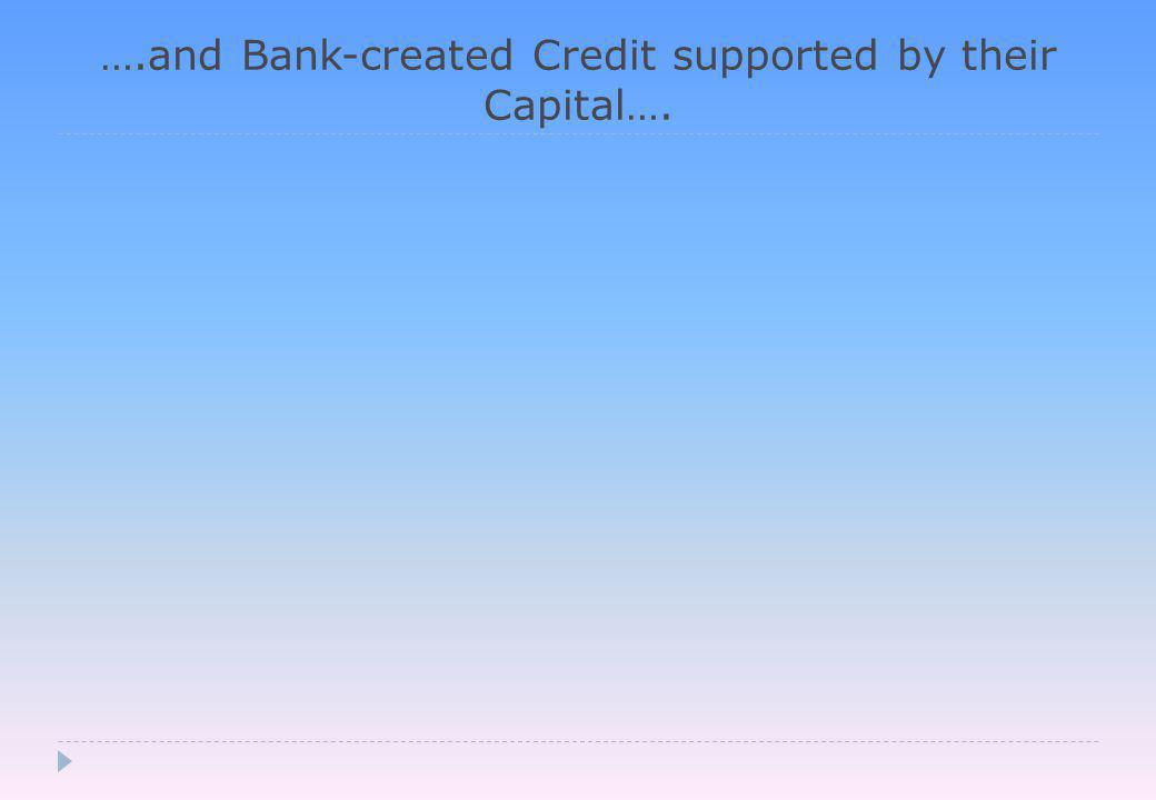 ….and Bank-created Credit supported by their Capital….