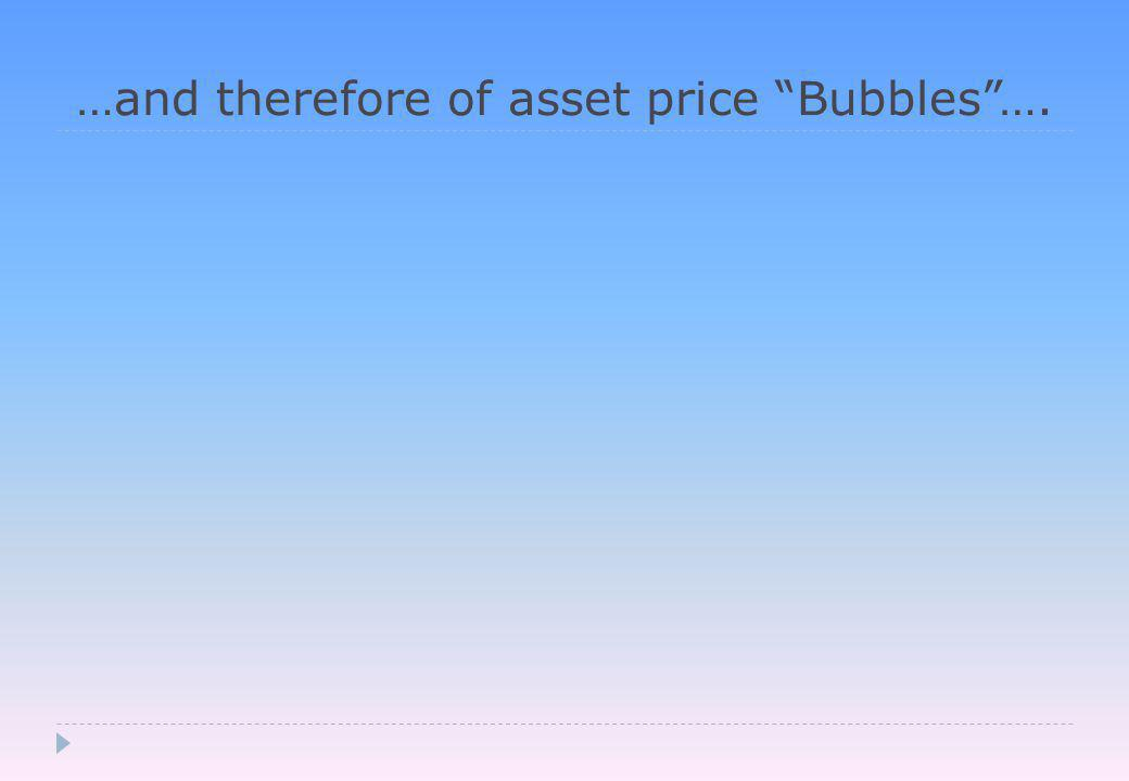 …and therefore of asset price Bubbles ….