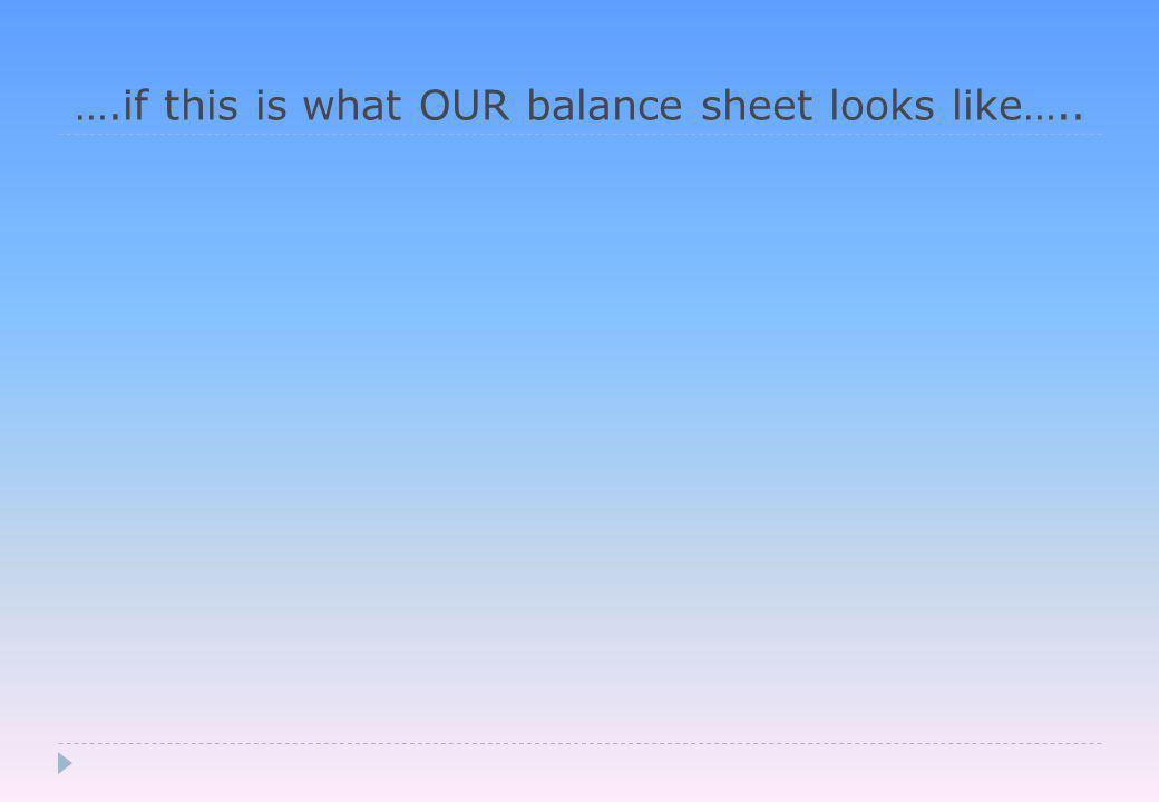 ….if this is what OUR balance sheet looks like…..