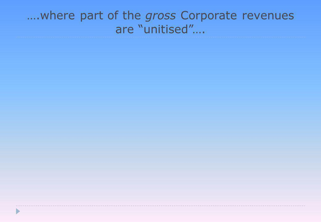 ….where part of the gross Corporate revenues are unitised ….