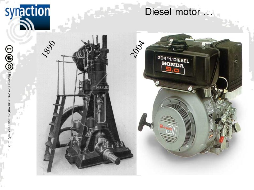 http://creativecommons.org/licenses/by-nc-sa/2.0/nl/ Diesel motor … 1890 2004