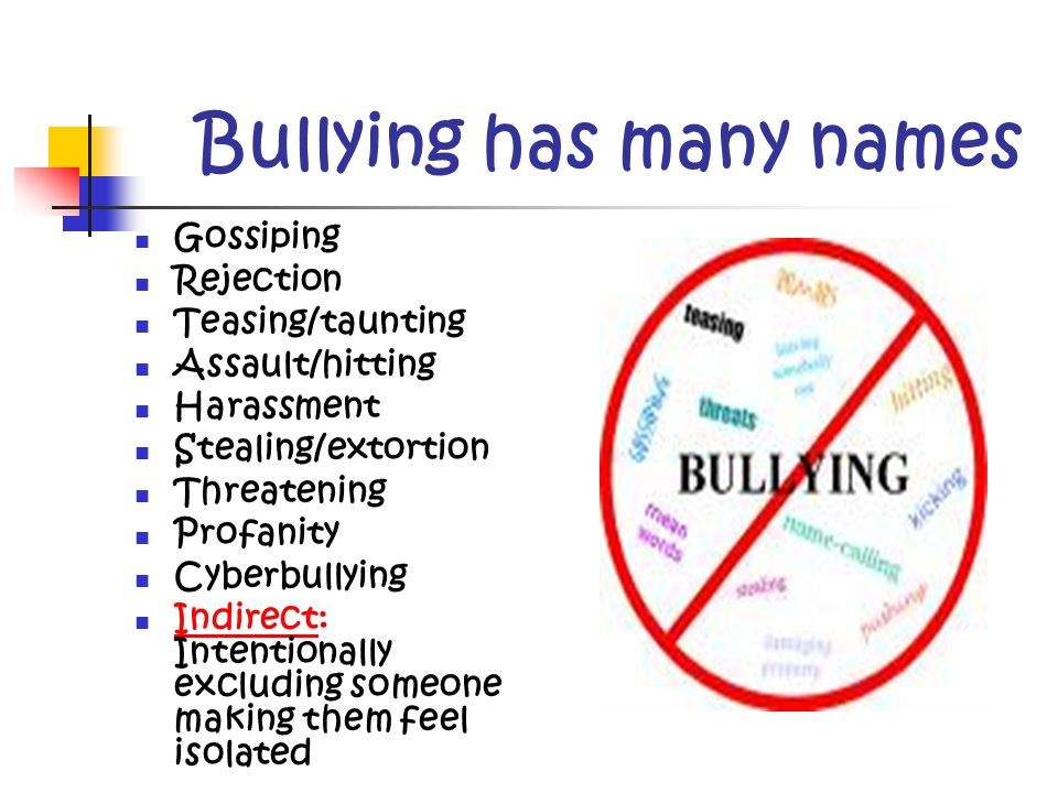 Reason for this Presentation Bullying has become a major problem in our school.