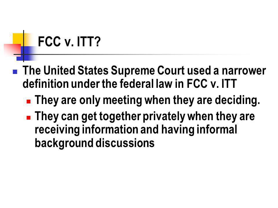 FCC v. ITT.