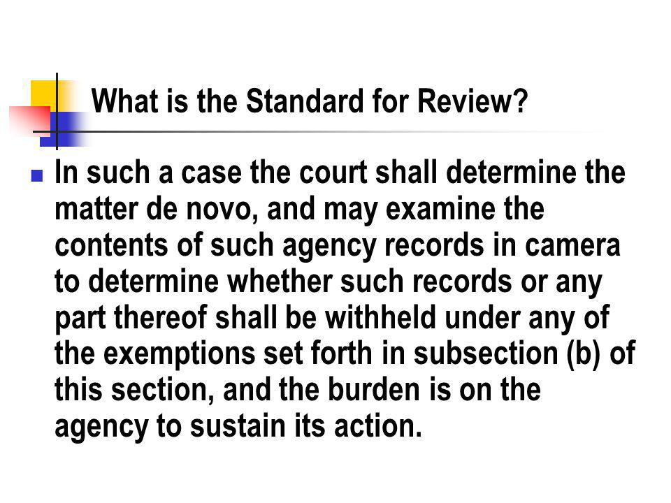Effect on the Courts What is the effect of de novo review? Does it encourage litigation?